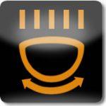 Uyarlamalı ön far sistemi uyarı lambası (Sarı)