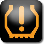 Düşük lastik basıncı uyarı işareti