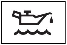 Düşük motor yağı seviyesi uyarı işareti