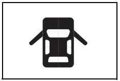Araç kapıları açık uyarı işareti
