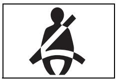 Sürücü ve ön yolcu emniyet kemeri uyarı işareti
