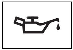 Düşük motor yağı basıncı uyarı işareti