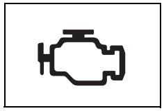 Motor arızası uyarı işareti