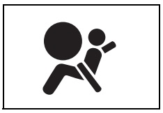 SRS hava yastığı uyarı işareti