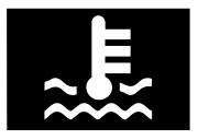 Soğutma sıvısı sıcaklığı ikaz işareti