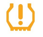 Lastiklerde yetersiz hava basıncı işareti